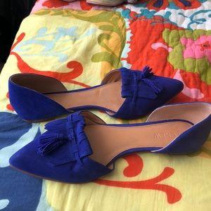 J. Crew Shoes - JCrew blue suede flats